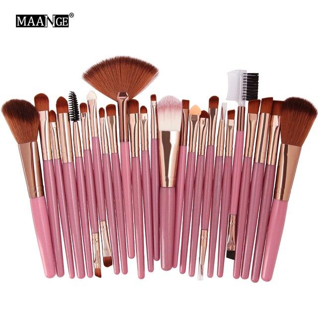 MAANGE 25pcs Makeup Brushes Set Beauty Foundation Power Blush Eye Shadow Brow Lash Fan Lip Concealer Face MakeUp Tool Brush Kit 3