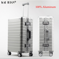 100% Cheap aluminum travel suitcase 24 TAS LOCK spinner 20 business trolley case on wheel Men's rolling luggage Women fashion