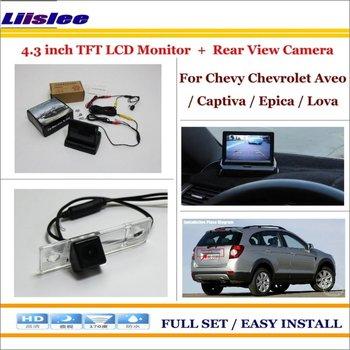 "Liislee For Chevrolet Chevy Aveo / Captiva / Epica / Lova Car Rear Camera + 4.3"" LCD Screen Monitor = 2 in 1 Back Parking System"