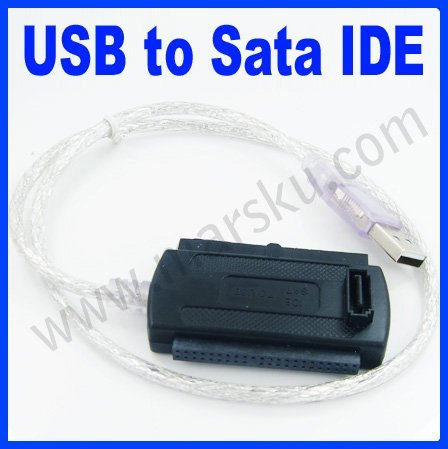 USB 2.0 to IDE SATA S-ATA  2.5/3.5 HDD converter Adapter Cable #440