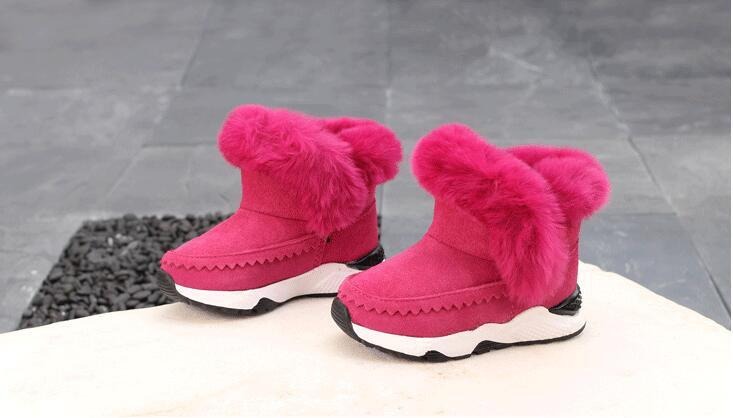2019 Winter Baby Boys And Girls Shoes Kids New Fashion Snow Boots Warm Cotton Thick Buckle Strap Shoes Children Clothing 2018 high end baby girls children kids snow boots fashion winter thick warm cotton shoes children s boots n235