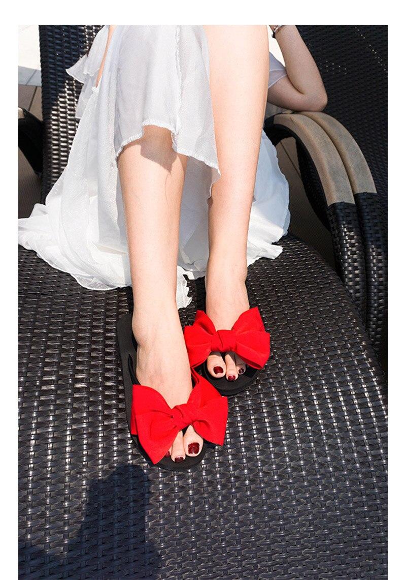 2018 New Flip Flops Fashion Solid Women Shoes EVA Platform Slip on Summer Slipppers Shoes Women Big Bow Decoration Sandals Woman (12)