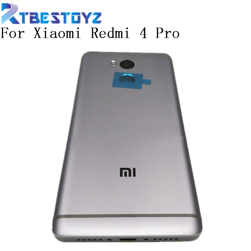 Original For Xiaomi Redmi 4 Pro/Redmi 4 Prime Metal Battery Door Cover Housing Back Cover With Power Volume Buttons+Camer