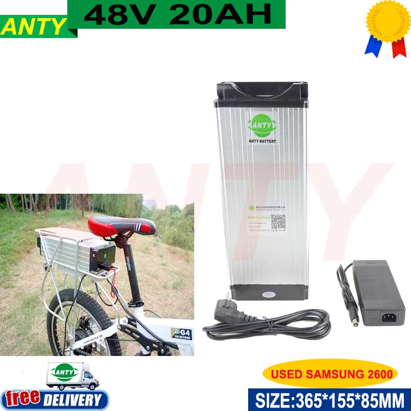 eBike Lithium Battery 48v 20ah 1000w use samsung Cells with 54.6v 2A Charger 30A BMS Electric Bicycle Battery 48v Free Shipping 48v 15ah li ion ebike battery 750w 48v 15ah bottle battery pack use samsung 3000mah cell 20a bms with 2a charger