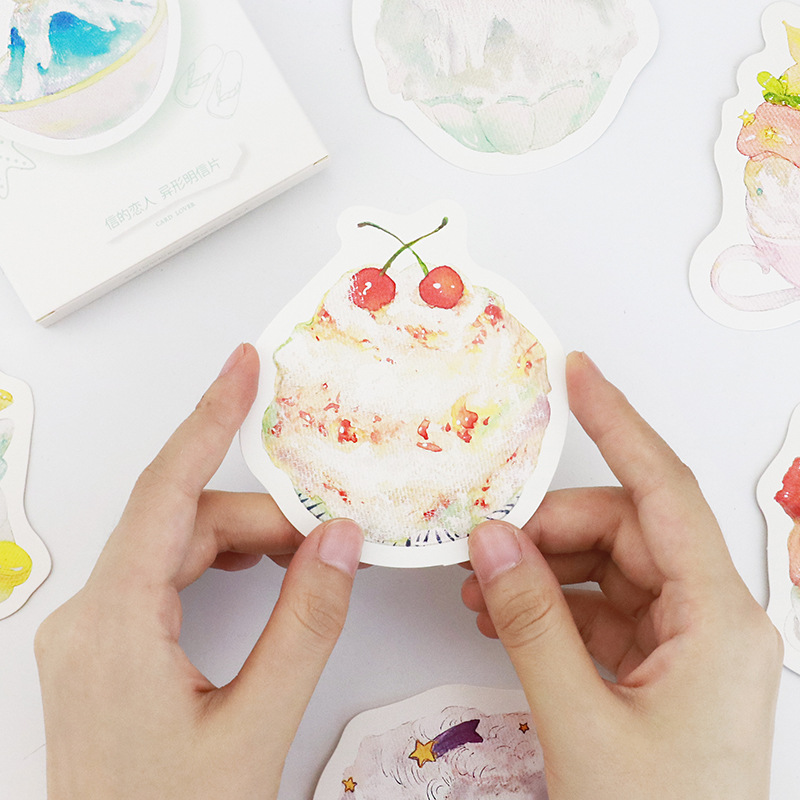 30pcs Summer dessert shaved ice style card multi use as