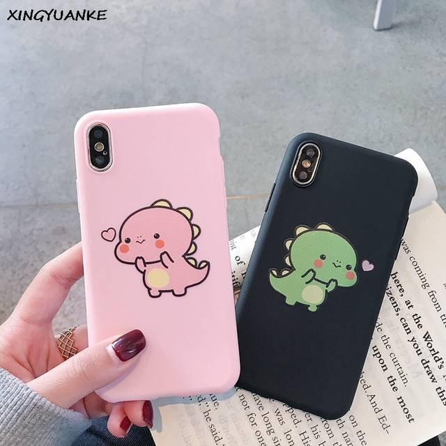 Silicone Phone Cases For Samsung Galaxy S10 S10E S9 S8 Plus S7 S6 Edge Cute  Cartoon Dinosaur Cover For Samsung Note 9 8 Case