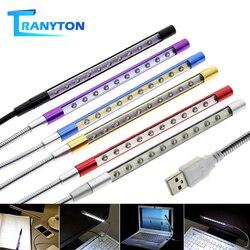 Bright Usb Boek Licht Metaal Materiaal 10Leds Flexibele Computer Lamp Leeslamp Voor Notebook Laptop Pc Usb Nachtlampje 6 Kleuren