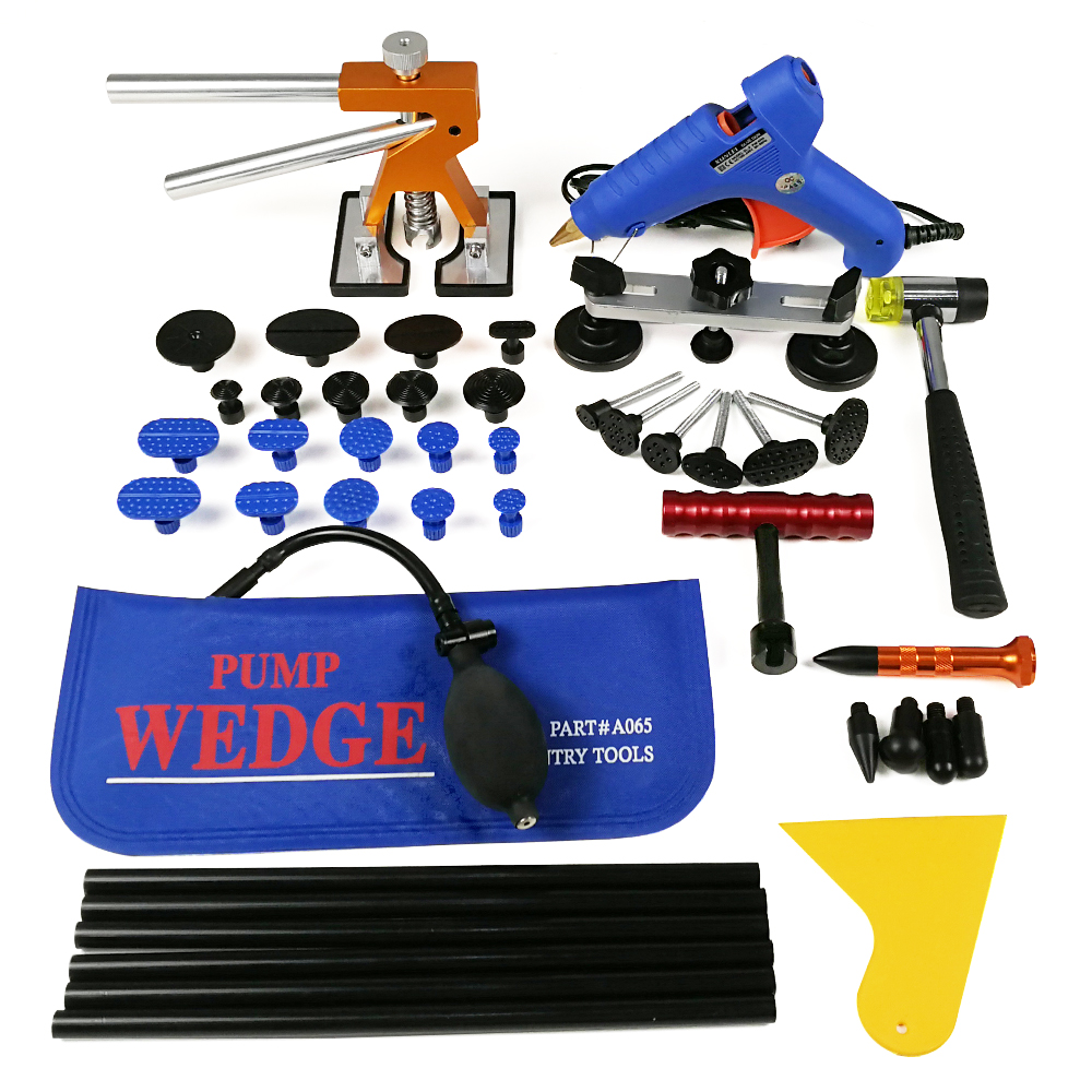 PDR Tools Paintless Dent Repair Tools Car Hail Damage Repair Tool Hot Melt Glue Sticks Glue Gun Puller Tabs Kit whdz pdr tools paintless dent repair tools dent removal dent puller pdr glue tabs glue gun hot melt glue sticks