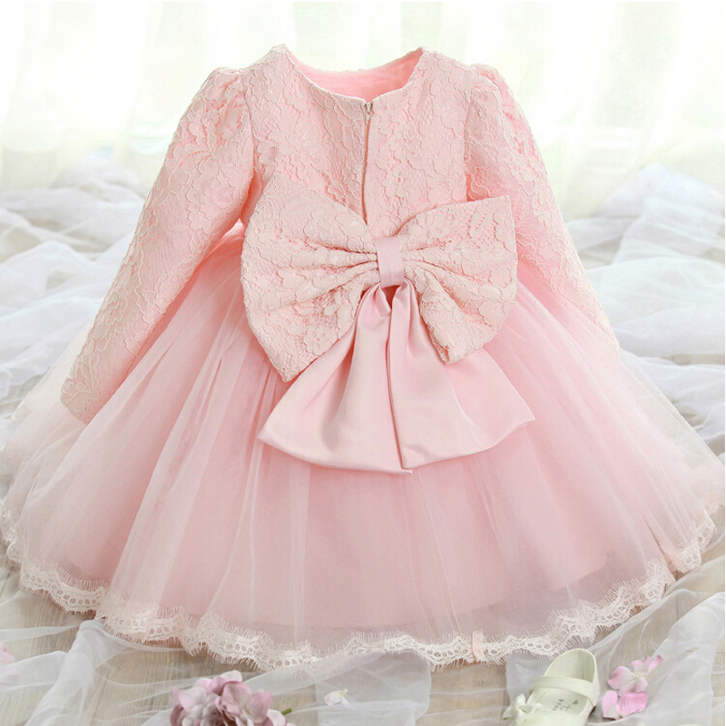 2015 New Princess Flower Girl Dresses Long Sleeve Communion Ball Party Pageant Dress for Wedding Little Girl Kids/Children Dress