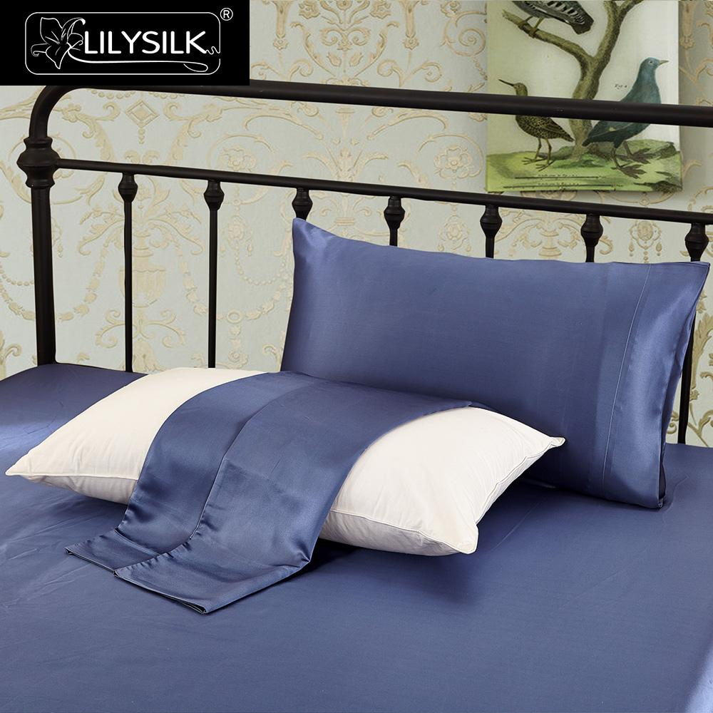 LilySilk المخدة 100 الحرير الخالص الطبيعي للشعر الفاخرة 22 مللي متر مقتضب التوت 40x40 50x90 سنتيمتر المنسوجات المنزلية شحن مجاني-في كيس وسادة من المنزل والحديقة على  مجموعة 3