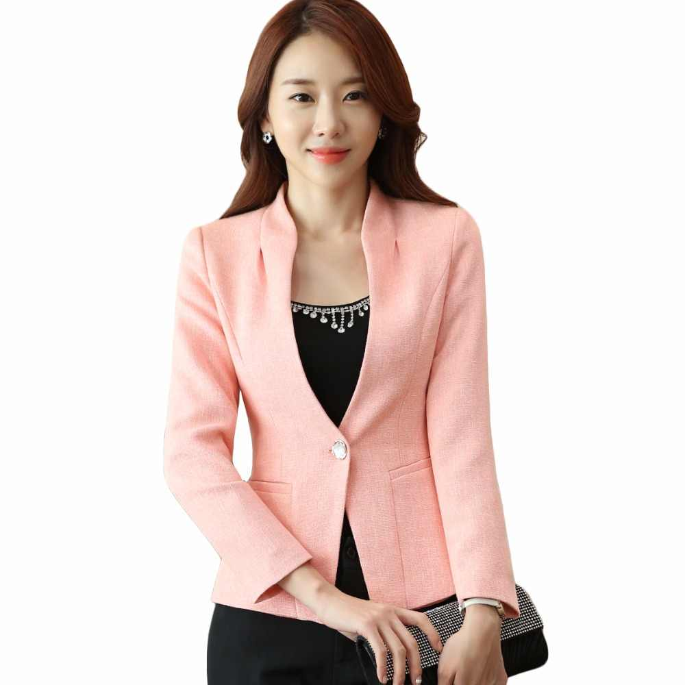 3032b34446e14 V-Neck Women Blazer Business Wear Coat New 2018 Elegant Full sleeve plus  size 4XL