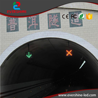 LED Electronic Traffic Lane Control Signal Traffic Lane Indicator Light With Red Cross Green Arrow