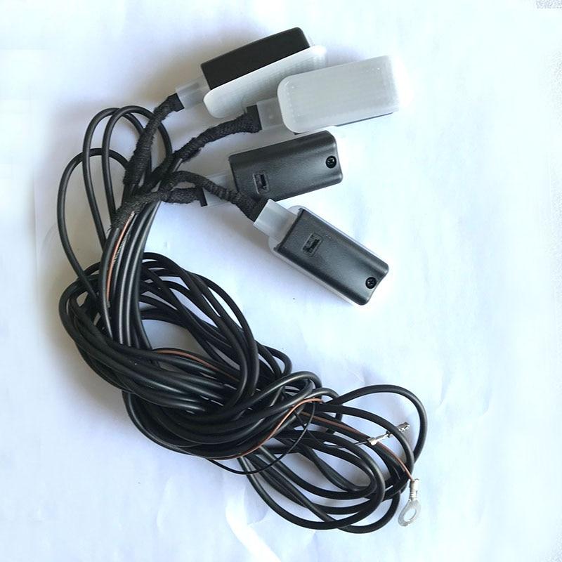 Trois commutable couleur LED Footwell Lumière Intérieur Pied Lampe Câble Harnais pour GOLF MK6 7 passat b6 b7 b8 cc Q3 Q5 Q7 A3 A4 A6