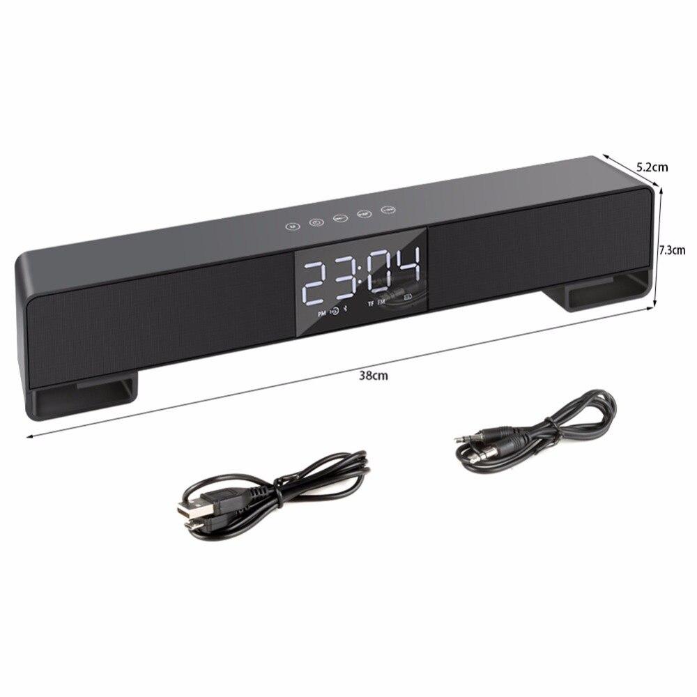 5 w * 2 2200 mah Draadloze Bluetooth Speaker Sound Bar voor TV Projector Luidspreker Subwoofer voor Iphone Xiaomi Android telefoons