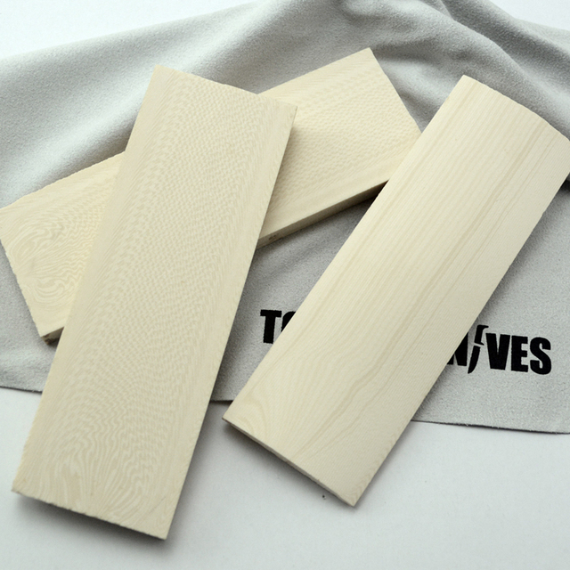 ivory white Making Knife handle Knife DIY resin material 120X40X8MM