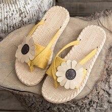 2019 New Cute Flower Beach Slippers Women Shoes Indoor Home Summer Slippers Dames Ladies Slides Flat Flip Flops недорого