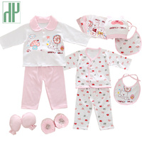 18pcs Set Newborn Girl Clothes 0 3 Months Long Sleeve Cotton New Born Baby Boy Clothing