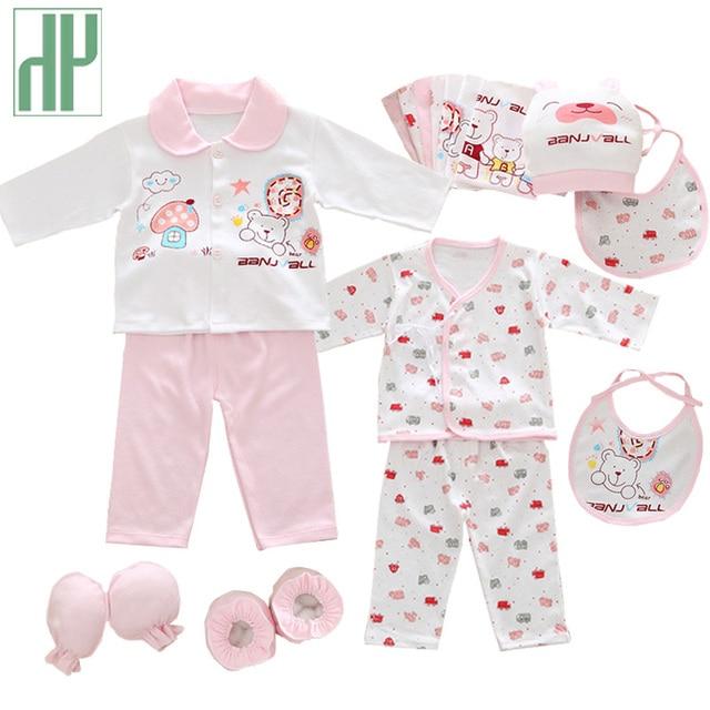 06a031ef 18 unids/set ropa de niña recién nacida 0 3 meses de manga larga de ...