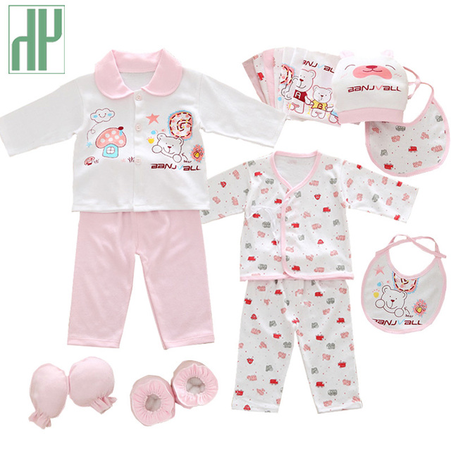 e2ed641e66385 18pcs set newborn girl clothes 0-3 months long sleeve cotton new born baby