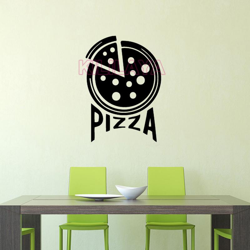 sticker cuisine avec inscription pizza