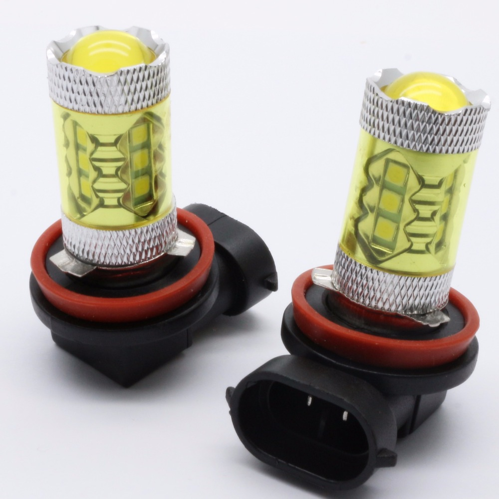 2x H11 H8 9005 9006 1156 BA15S 7440 LED Yellow/White Car Fog Headlight Replacement Bulb DRL Auto Driving Daytime Running Light 9005 hb3 9006 hb4 7 5w high power cob led bulb car auto light source projector drl fog headlight lamp white yellow