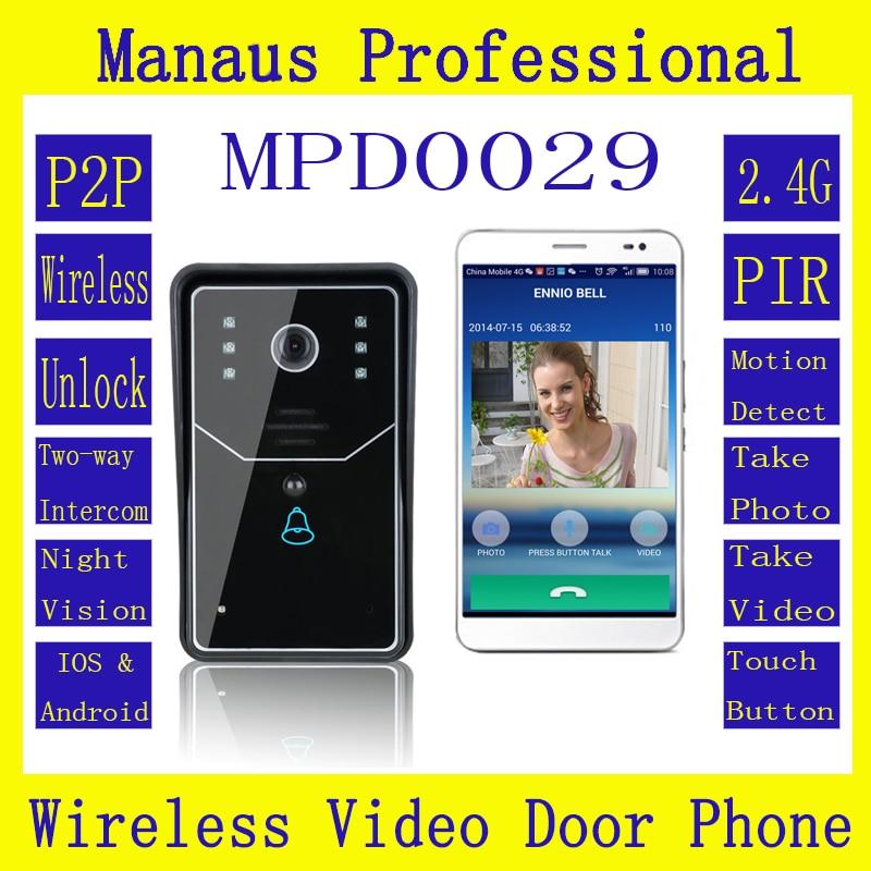 High Quality New WiFi DoorBell Wireless Smart Video Doorbell Home Improvement Visual Door Ring D29b