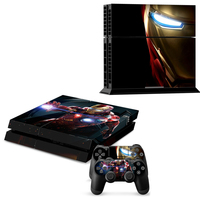 2015 New And High Quality IRONMAN Style Skin Sticker Cover For Sony Playstation 4 For PS4