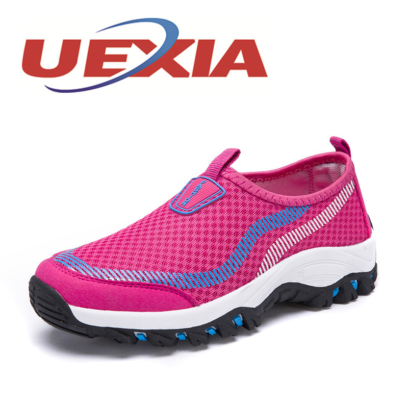 High Quality Mesh Walking Women Shoes Outdoor Fashion Casual Breathable Trekking Shoes Womens Trainers Zapatos Mujer Leisure 2017 new arrival spring men casual shoes mens trainers breathable mesh shoes male hombre hip hop street shoes high quality