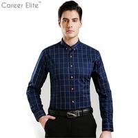 2018 Casual 5XL Plus Size Shirt Mannen Katoen Plaid Blouse Shirts Lange Mouw Modemerk Kleding Camisa Sociale Masculina