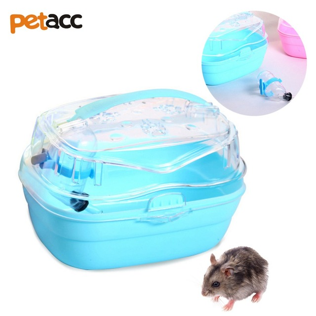 636ffd2c7ecc US $12.34 15% OFF PETACC High quality Cute Hamster House Transparent Cabin  Cage for Hamster Small Animals Carrier Case Portable Pet Hamster Cage-in ...