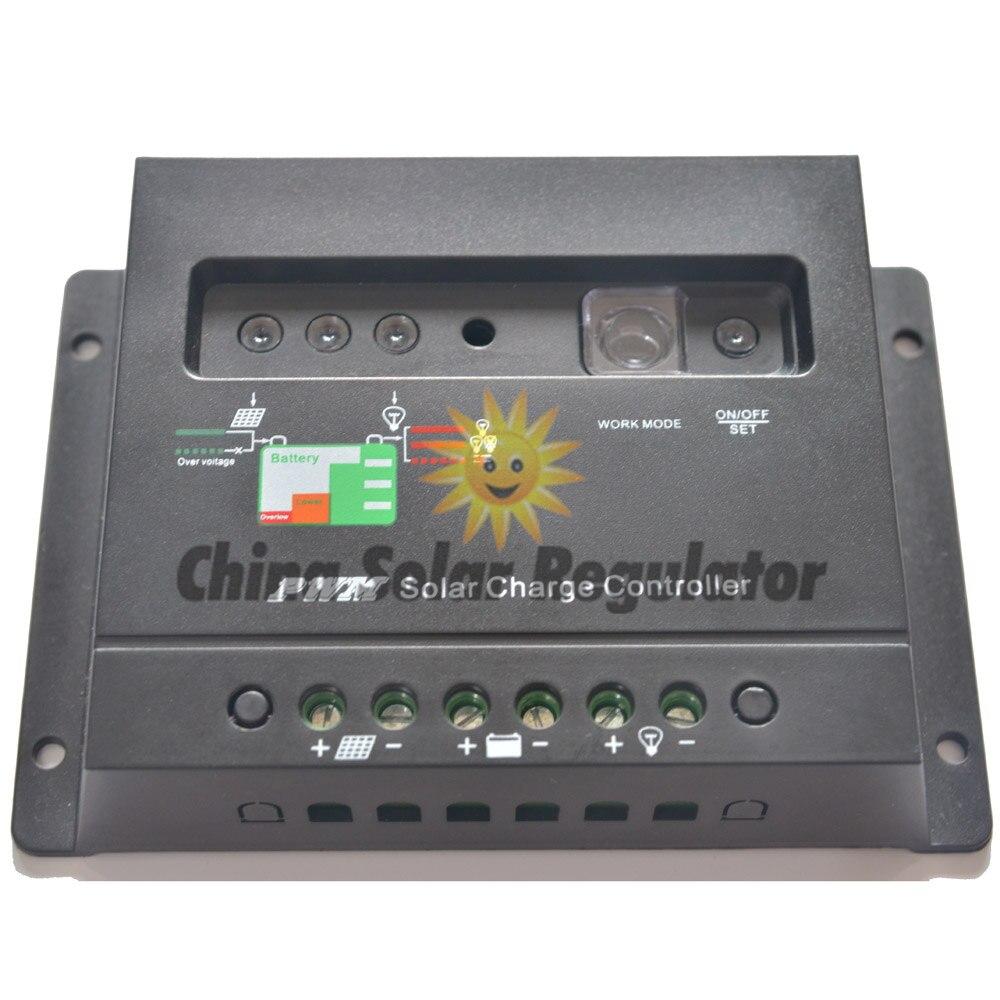 10 шт. 20A солнечный регулятор заряда 12 В 24 в автоматический переключатель 20 Ампер солнечные регуляторы со светом и таймером светодиодный индикатор