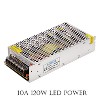 Retail 12V 120W 10A LED Switching Power Supply Driver 100 120V 200 240V AC Input