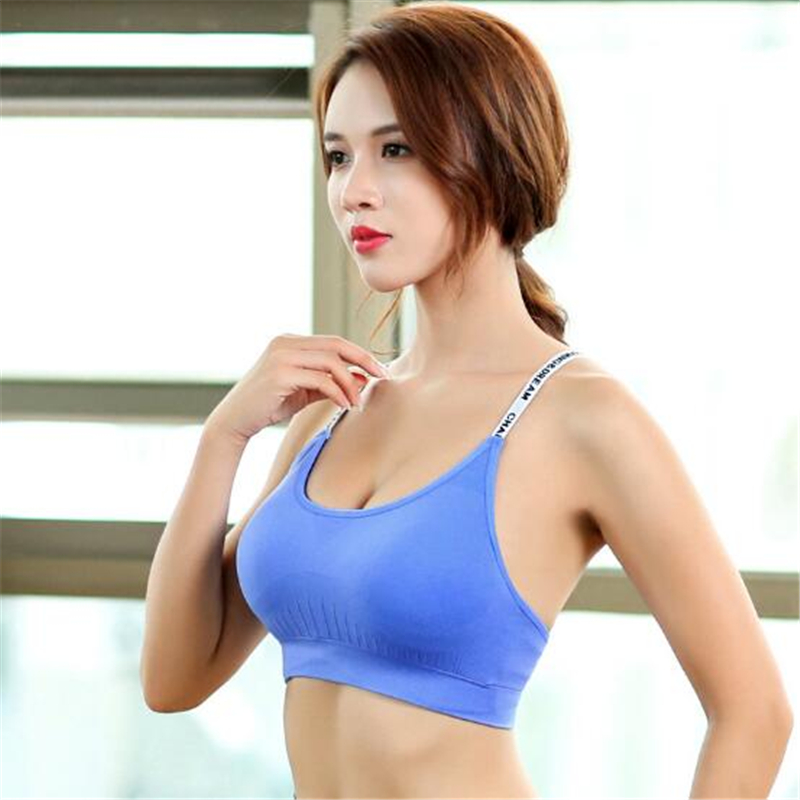 87125a55ed190 LISM Women Fitness tops Running top Yoga Sports Bra Including Breast  Implants for Quick drying Comfort