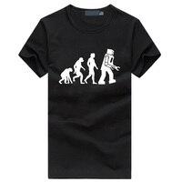 Big Bang Theory Robot Evolution Men S T Shirts 2016 Summer Hipster Streetwear Tshirt Homme Funny