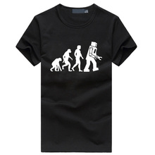 Big Bang Theory Robot Evolution Men's T-shirts 2016 Summer hipster streetwear tshirt homme funny hip hop fitness brand clothing