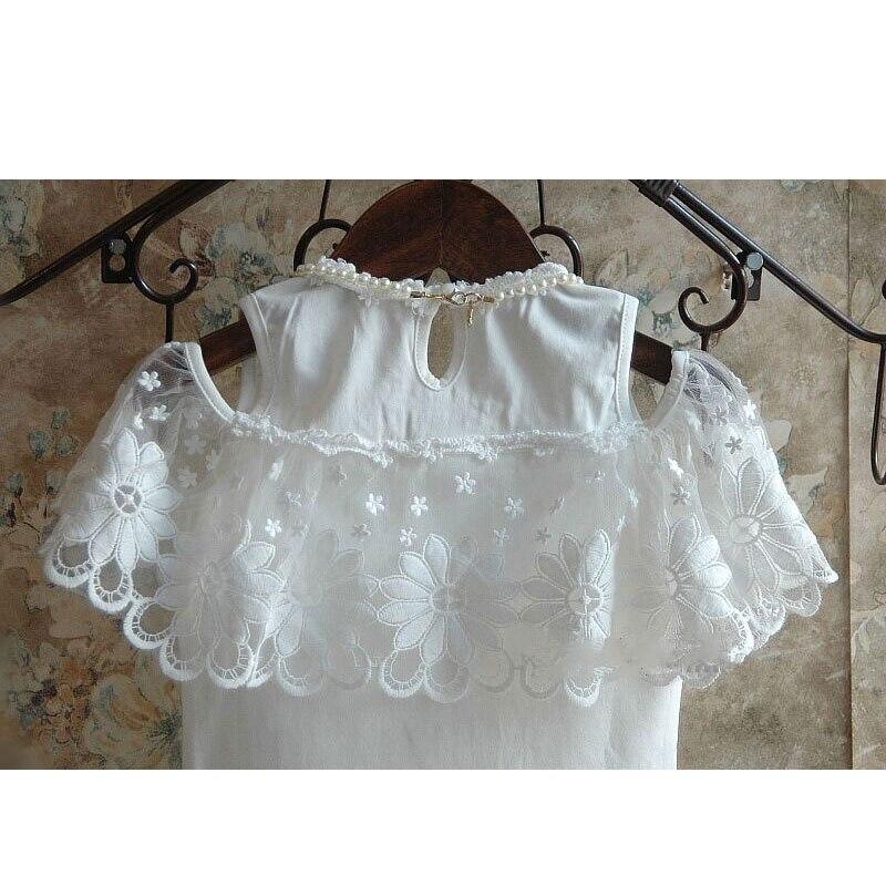 Childrens Girl Clothing Set Summer Outerwear Fashion Kids Girls Clothes Suit T-shirt+Short Child Toddler Cotton Mesh Sets 2-8T