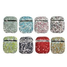 Luxury Bling Diamond Decorative Earphone Case Wireless Bluetooth Headphone Protective Cover for Apple AirPods Accessories цена и фото
