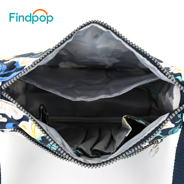 Casual Sling Crossbody Bags For Women Waterproof Small Messenger Bags Fashion Canvas Floral Printing Crossbody Bags 4