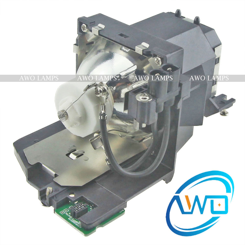 AWO Free Shipping ET-LAV200 Projector Lamp Compatible with housing for PANASONIC PT-VW435W/PT-VW430/PT-VW431D/PT-VW440/PT-VX505N et lab50 for panasonic pt lb50 pt lb50su pt lb50u pt lb50e pt lb50nte pt lb51 pt lb51e pt lb51u projector lamp bulb with housing