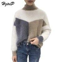 HziriP 2017 New Korean Autumn Winter Women Sweaters Fashion Turtleneck Warm Knitting Pullovers Long Sleeved Loose