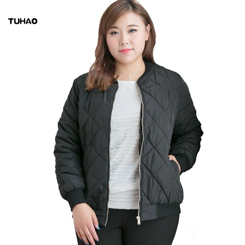 TUHAO 2018 Herbst Winter Frauen Jacke Plus Größe 10XL 9XL 8XL Frauen Winter Mode Oversize Jacken Mäntel für Büro Dame MSFS-in Parkas aus Damenbekleidung bei  Gruppe 1