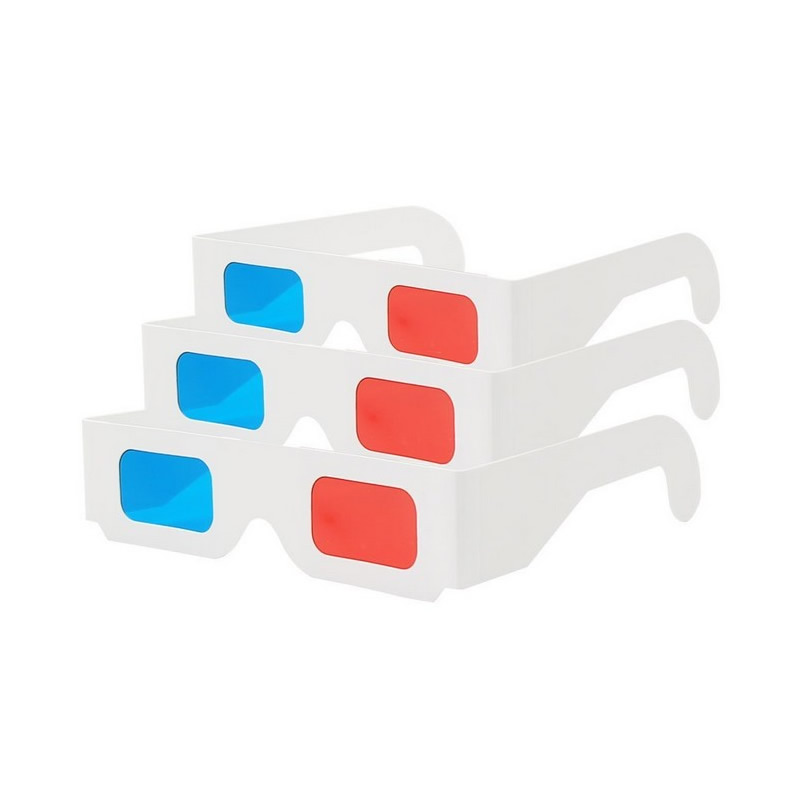 Hot selling Paper 3d glasses red blue 2000 Pairs of Red/Cyan Cardboard children - Folded in Protective Sleeve