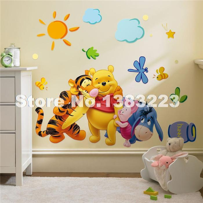 Kids Room Wall Design image of kids room wall decals animals Baby Bear Cartoon Diy Wallpaper For Kids Rooms Sofa Bedroom House Decoration Art Decals Design 3d