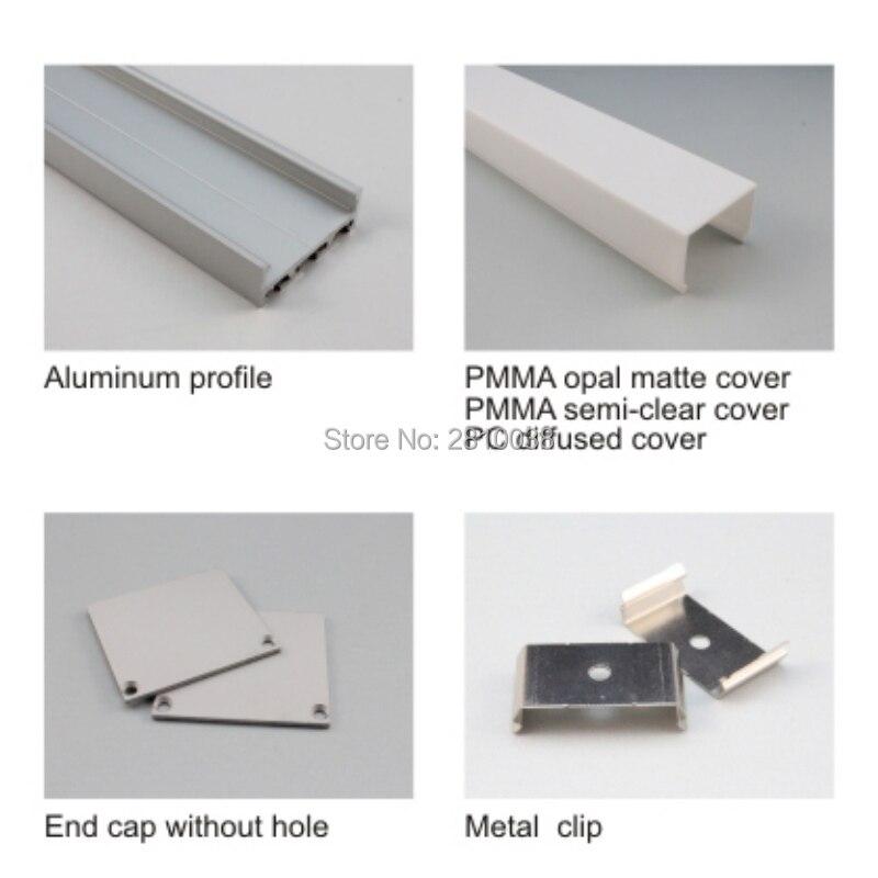 tamanho do canal de aluminio perfil tira conduzida perfil ou 02