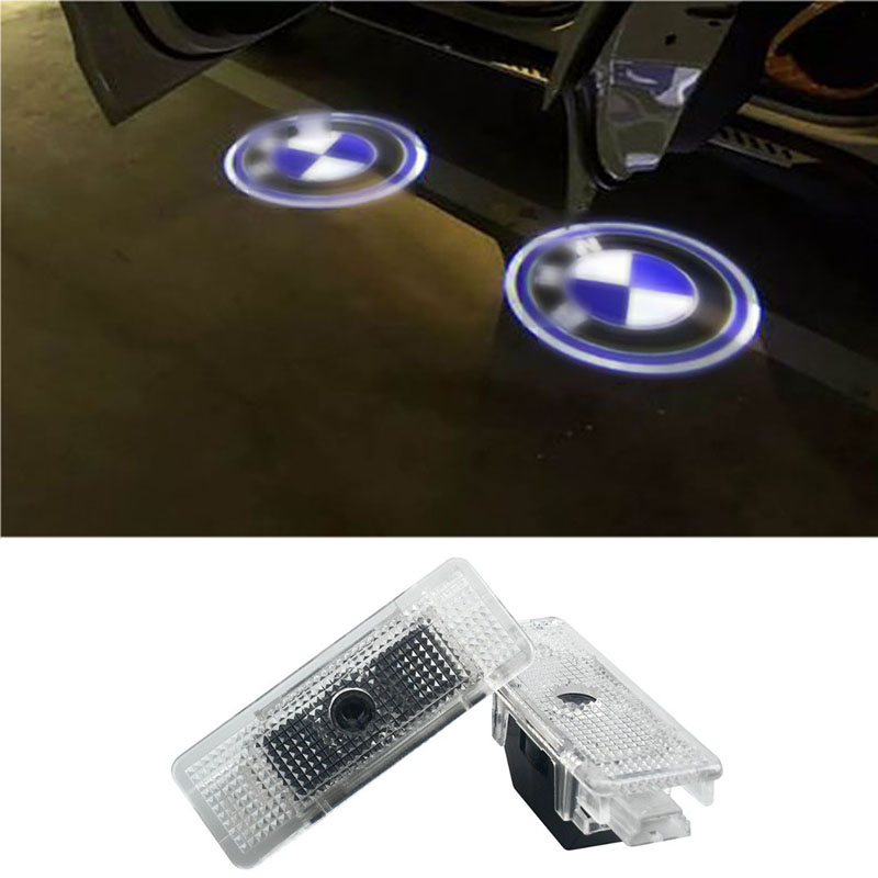 2pcs LED Car Door Courtesy Projector Logo Light For BMW E39 1999-2006 528i M5 X5 E53 1995-2002 LED Logo Projector Ghost Shadow projector lamp code rlc 038 compatible projector lamp with case for viewsonic pj1173 projectors