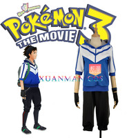Mobile Game Pokemon Go Blue Cosplay Costume Trainer Uniform Men Fashion Outfit Clothing Full Set Custom Made Any Size W1096