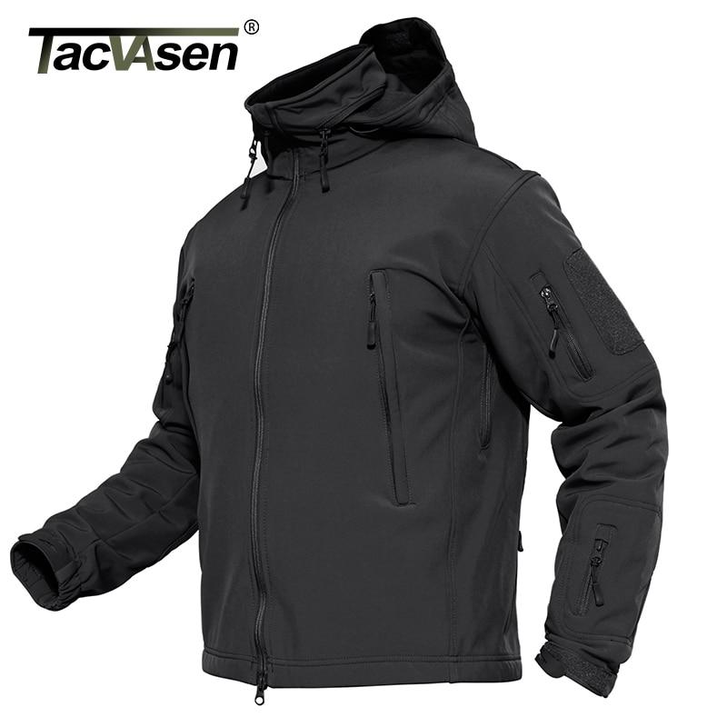 Tacvasen Men Military Jacket Coat Waterproof Tactical Jacket Winter Soft Shell Hunt Jackets Army Removable Hooded Windbreaker #2
