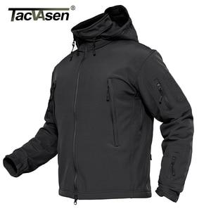 Image 5 - TACVASEN Winter Military Fleece Jacke Herren Soft shell Jacke Taktische Wasserdichte Armee Jacken Mantel Airsoft Kleidung Windjacke