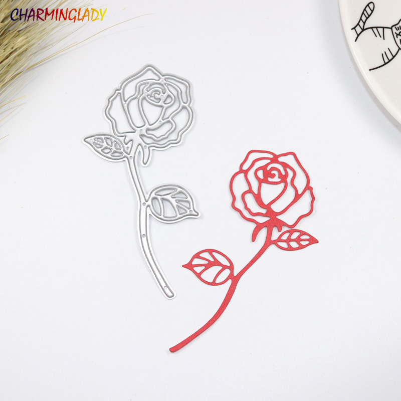 METAL CUTTING DIES rose flower lover romantic wedding valentine scraper card album PAPER CRAFT embossing stencils template dies