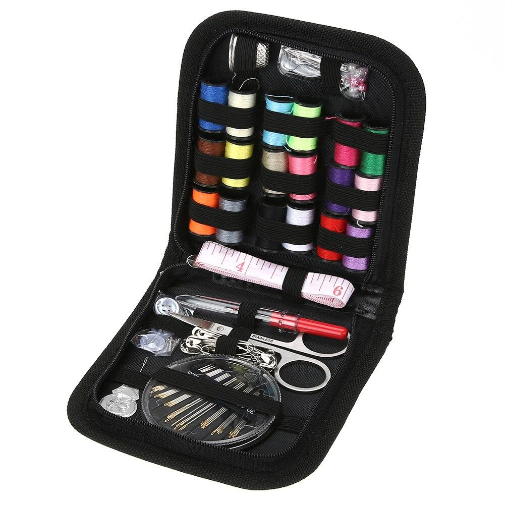 70 pcs/ensemble Boîte À Couture Kit Voyager Quilting Couture Broderie Aiguille À Coudre Artisanat Kits avec le Cas À Coudre Accessoires